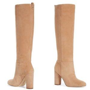 SAM EDELMAN Suede knee high boots